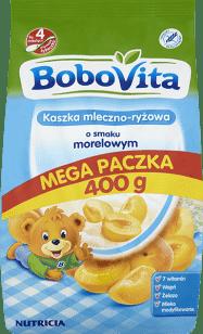 BOBOVITA Kaszka mleczno-ryżowa o smaku morelowym (400g)