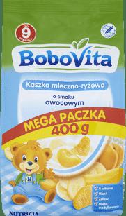 BOBOVITA Kaszka mleczno-ryżowa o smaku owocowym (400g)