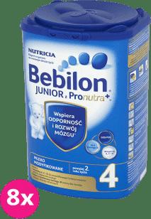 8x BEBILON Junior 4 z Pronutra+ mleko dla dzieci 2. roku życia (800g)