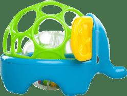 BRIGHT STARTS Zabawka zwierzątko Oball Rollie Rattles™, 3m+ (słoń)