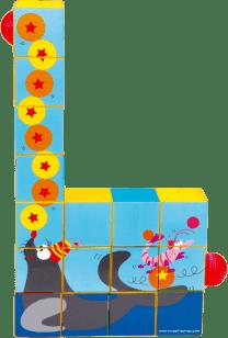 SCRATCH Puzzle a guličkové dráha Cirkus
