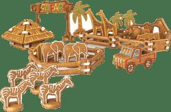 TESCOMA Piernikowe Safari DELICIA KIDS - komplet szablonów i wykrawaczek