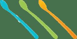 TESCOMA Dětská lžička dlouhá BAMBINI, 3 ks - zelená, modrá, růžová