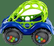 BRIGHT STARTS Zabawka samochodzik Oball Rattle; Roll™, niebieski, 3m+