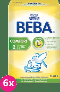 6x NESTLÉ BEBA Comfort 2 (600g) - kojenecké mléko