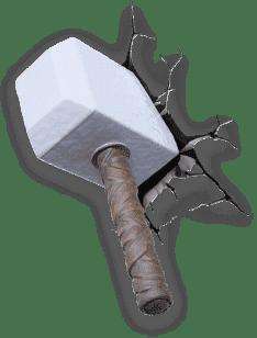 PHILIPS 3D światło na ścianę Młot Thora
