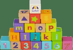 BOIKIDO dřevěné ABC kostky 28 ks