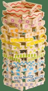 BOIKIDO Zestaw klocków drewnianych 100 sztuk