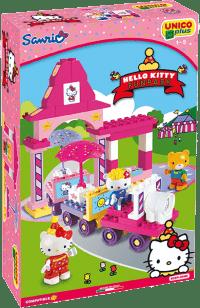 UNICO Hello Kitty Zestaw klocków – Wesołe miasteczko – pociag 51 szt.