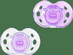 TOMMEE TIPPEE Cumlík CTN silikón Air Style 2ks 6-18m-fialové
