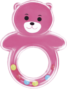 CANPOL Babies Hrkálka medvedík s guličkami - ružové