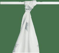 KIKKO Bambusowy ręcznik/pieluszka Stars 90x100 (1 szt.) – silver