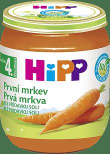 HIPP BIO Prvá mrkva (125 g) - zeleninový príkrm