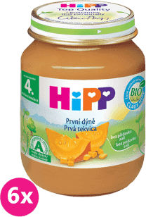 6x HIPP BIO detský príkrm Prvá tekvica 125g