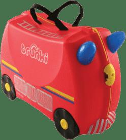 TRUNKI Kufřík + odrážedlo hasičský vůz Freddie