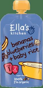 ELLA´S Kitchen Dětská rýže – Banán aborůvky 120g