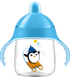 AVENT Hrneček pro první doušky Premium 260 ml - modrá