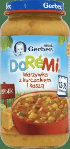 GERBER Doremi warzywka z kurczakiem i kaszą (250g)