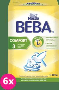 6x NESTLÉ BEBA COMFORT 3 (600g) - kojenecké mléko