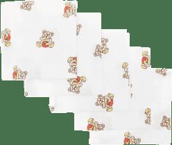 Libsztackie pieluszki Dziecięce bawełniane pieluszki 70x70 cm, nadruk, 5 szt., Brumla z miodem
