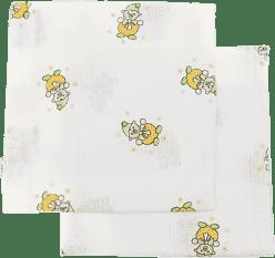 Libsztackie pieluszki Dziecięce bawełniane pieluszki 90x100 cm, nadruk, 2 szt., Klaun