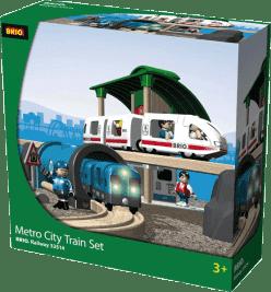 BRIO Kolejka metro city zestaw z dźwiękami i światłami