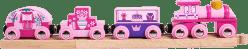 BIGJIGS Drewniane kolejki – Pociąg dla księżniczek + 3 tory