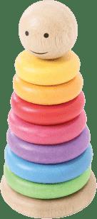 BIGJIGS Nakładanie na tyczkę – Kolorowy manekin