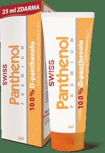 SWISS Panthenol 10% PREMIUM gél 100 + 25ml Bezplatne