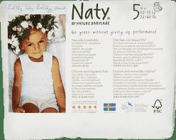 NATY NATURE BABYCARE Ekologiczne pieluchomajtki 5 (12-18Kg) 20 Szt