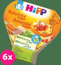 6x HIPP BIO bolonské lasagne (250 g) - zeleninový príkrm