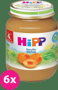 6x HIPP BIO s marhuľami (125 g) - ovocný príkrm