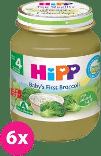 6x HIPP BIO první brokolice (125 g) - zeleninový příkrm