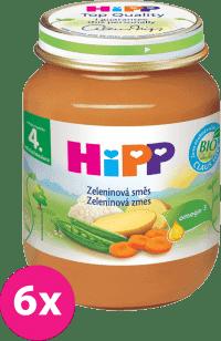 6x HIPP BIO zeleninová zmes (125 g) - zeleninový príkrm