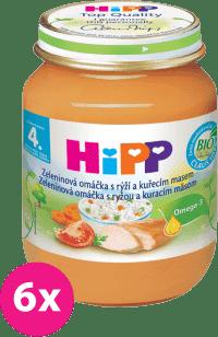 6x HIPP BIO zeleninová omáčka s ryžou a kuraťom (125 g) - mäso-zeleninový príkrm