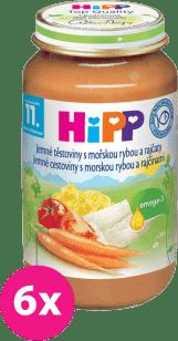 6x HIPP jemné cestoviny s morskou rybou a rajčinami (220 g) - mäso-zeleninový príkrm
