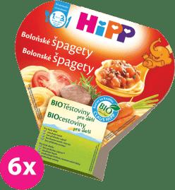 6x HIPP BIO bolonské špagety (250 g) - mäso-zeleninový príkrm