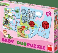 DINO Baby Puzzle 9x2 Zvieratká
