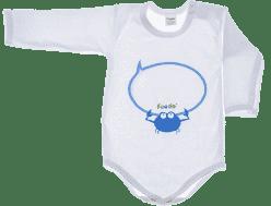 FEEDO dětské body KRAB (modrá), vel. 62
