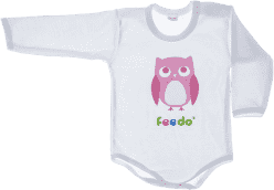 FEEDO detské body SOVA (ružová), veľ. 68