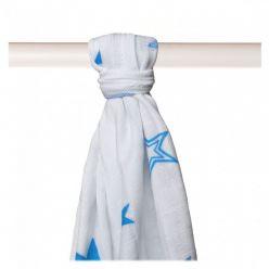 KIKKO Bambusowy ręcznik/pieluszka Stars 90x100 (1 szt.) – cyan