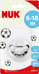 NUK Smoczek Classic Football, silikon, rozmiar 2 (6-18 mies.)