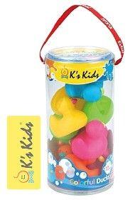K´S KIDS Farebné kačičky do vody, 10 ks