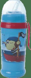 CANPOL Babies Láhev sportovní s nevylévací slámkou- modrá piráti 350 ml