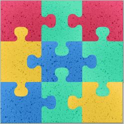 OSMOST Molitanová podložka - Puzzle