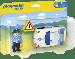 PLAYMOBIL Policajné autíčko (1.2.3.)