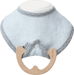 LULLALOVE SupeRRO Baby Eco - gryzak i śliniak w jednym Błękit