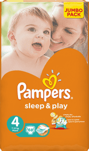 PAMPERS Sleep&Play 4 MAXI (7-14kg) 2x68 (136ks) JUMBO PACK - jednorázové pleny