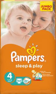 PAMPERS Sleep & Play 4 MAXI (7-14kg) 2x68 (136ks) JUMBO PACK - jednorázové plienky