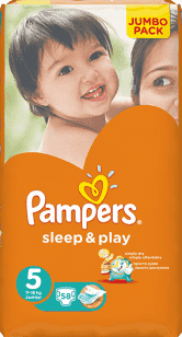 PAMPERS Sleep&Play 5 JUNIOR (11-18kg) 2x58 (116ks) JUMBO PACK - jednorázové pleny